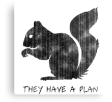 Squirrels: They Have A Plan Metal Print
