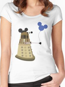 Dalek on Vacation Women's Fitted Scoop T-Shirt