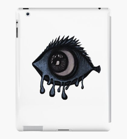 Abstract fish/eye? (Blue and White) iPad Case/Skin