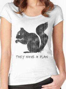 Squirrels: They Have A Plan Women's Fitted Scoop T-Shirt