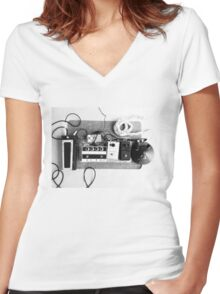 Effects Pedals01 Women's Fitted V-Neck T-Shirt