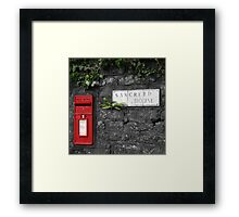 Sancreed Postbox Framed Print
