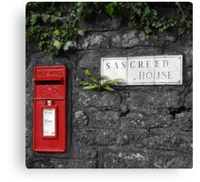 Sancreed Postbox Canvas Print