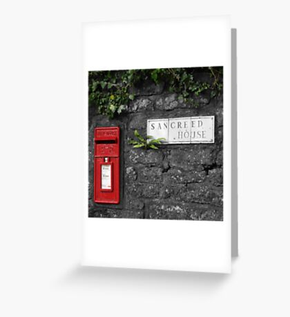 Sancreed Postbox Greeting Card