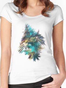 Tree - Fractal Art Women's Fitted Scoop T-Shirt