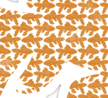 School of Goldfish Pattern Sticker