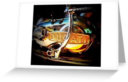 Motorcycle engine beauty by Janine Barr