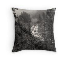 Firehole Fog Monster (BW) Throw Pillow