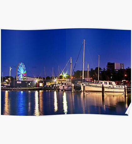 """Evening At The Marina"" Poster"