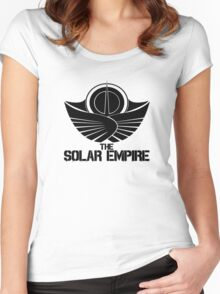 The Solar Empire (Black)  Women's Fitted Scoop T-Shirt