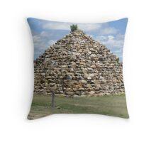 Pyramid of rocks Throw Pillow