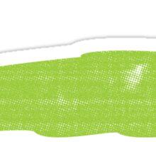 Happy Green Slug Sticker
