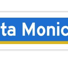 Santa Monica Boulevard, Street Sign, Los Angeles, USA  Sticker