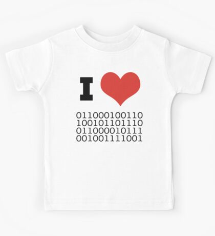 I Heart Binary Kids Tee