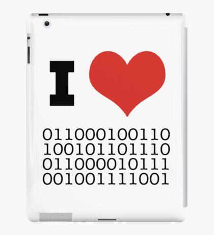 I Heart Binary iPad Case/Skin