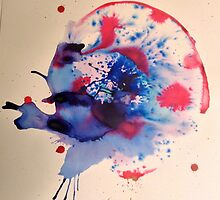 Abstract Ink Painting by Tiffany Gosselin