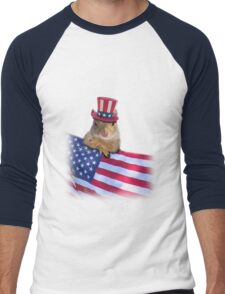 Patriotic Squirrel Men's Baseball ¾ T-Shirt