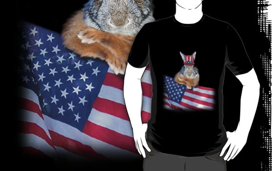 Patriotic Bunny Rabbit by jkartlife