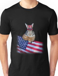 Patriotic Bunny Rabbit Unisex T-Shirt