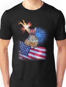 Patriotic Bunny Rabbit Unisex T-Shirt