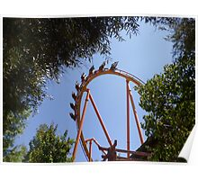 Tatsu Roller Coaster in the Trees Poster