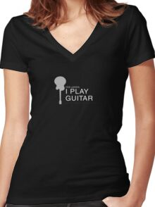 Guitar Women's Fitted V-Neck T-Shirt