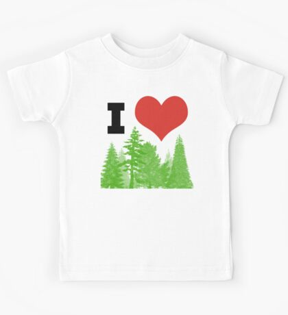 I Heart Pine Trees / Forest / Nature Kids Tee