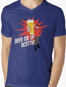 Beer Me Up Scotty Mens V-Neck T-Shirt