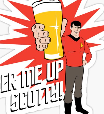 Beer Me Up Scotty Sticker