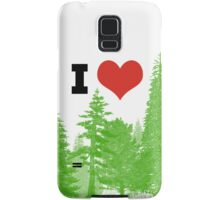 I Heart Pine Trees / Forest / Nature Samsung Galaxy Case/Skin