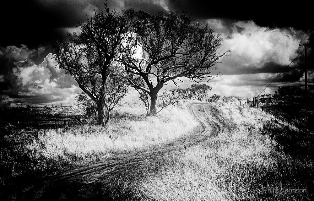 The Journey  B&W Variation - Cootamundra,NSW - The HDR Experience by Philip Johnson
