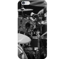 Drums in Black & White iPhone Case/Skin