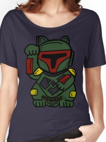 LUCKY BOBA CAT Women's Relaxed Fit T-Shirt