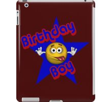 Cute Birthday Boy Smiley Face iPad Case/Skin