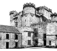 Belsay Castle Triptych by Darren Allen