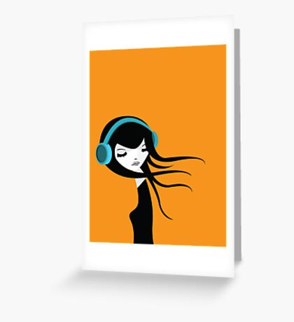Flow In The Music Greeting Card
