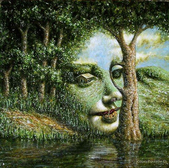 Apparition of an Angel in a Landscape II by Jósean Figueroa