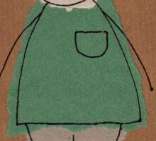 Brown paper boy Sticker