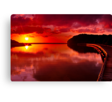 """Sunrise Over Spring Creek"" Canvas Print"