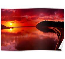 """Sunrise Over Spring Creek"" Poster"