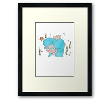 Mermaid Girl - Pastel Framed Print