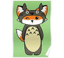 Fox in Totoro cosplay Poster