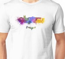 Prague skyline in watercolor Unisex T-Shirt