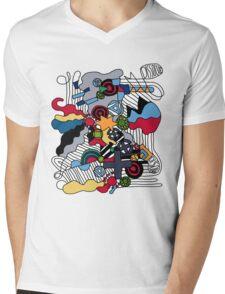 Dissolve Abstract 2 Mens V-Neck T-Shirt