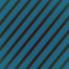 Brown stripes on blue by CatchyLittleArt