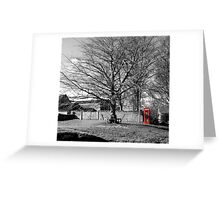 The Village Green at Cold Kirby Greeting Card