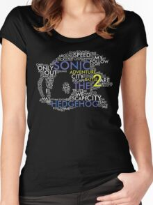 Sonic - City Escape Typography Women's Fitted Scoop T-Shirt