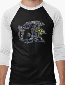 Sonic - City Escape Typography Men's Baseball ¾ T-Shirt