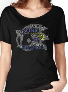Sonic - City Escape Typography Women's Relaxed Fit T-Shirt