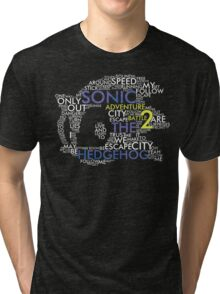 Sonic - City Escape Typography Tri-blend T-Shirt